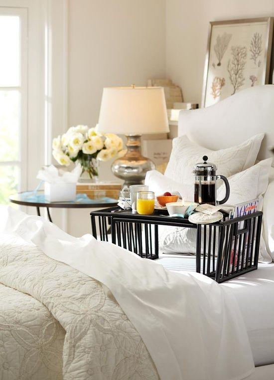 beautiful bedroom for breakfast in bed