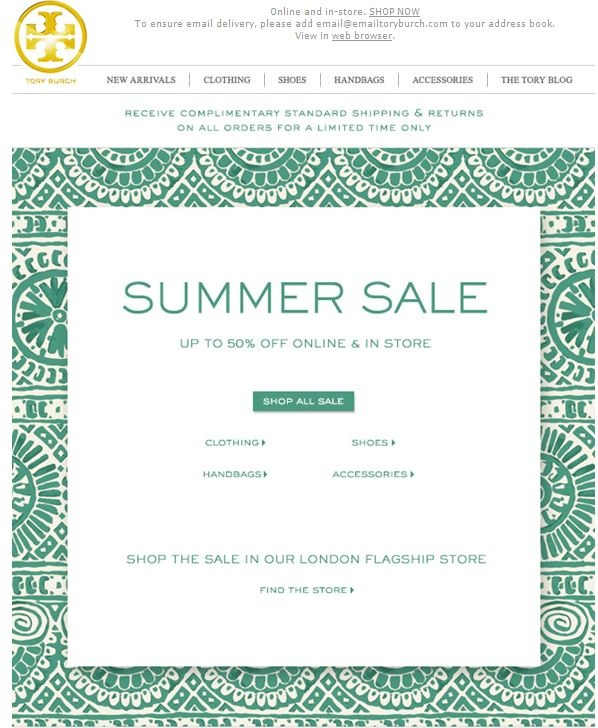 Tory Burch Sale Up to off Clothing, Handbags, Shoes and