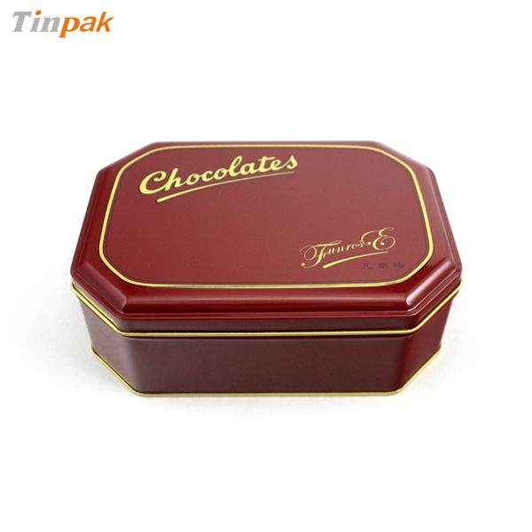 The eight sided tin boxes look good and feel good. They are particular suitable for packing chocolates, biscuits,cookies and so on.