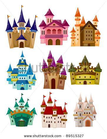 stock vector : cartoon Fairy tale castle icon