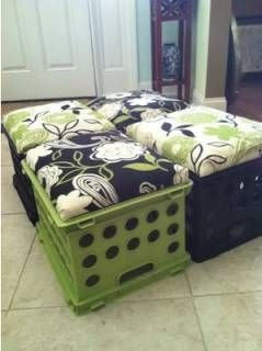 This would be great for toy storage with different fabric...place the book shelf near by for comfy seating... :)
