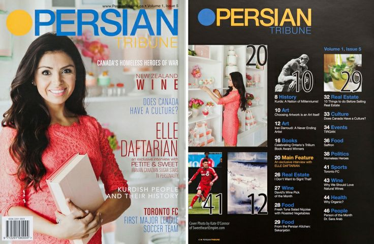 Elle Daftarian, Petite and Sweet Bakery, Toronto - cover of Persian Tribune Magazine > Sweetheart Empire » Portrait and Special Event Photographer