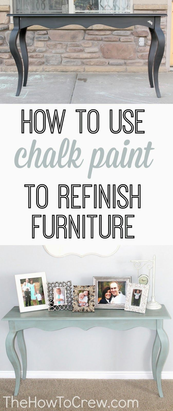 How To Use Chalk Paint to Refinish Furniture from TheHowToCrew.com.