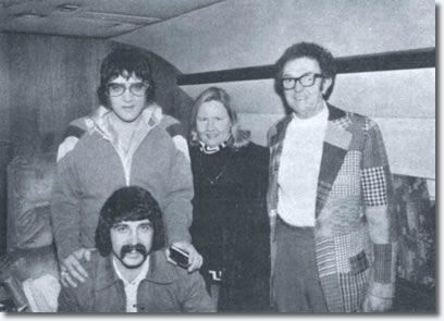 Elvis Presley and friends on the Lisa Marie - January 1976 in Aspen, Colorado - January 1976