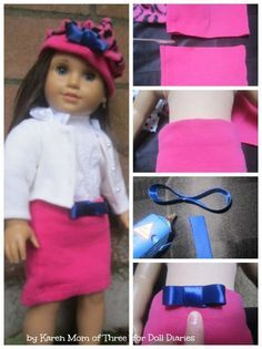 You Can Make These D.I.Y No Sew Skirts and Berets for Dolls