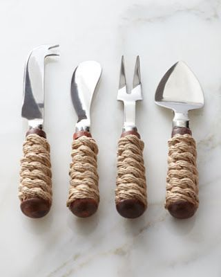 Rope Cheese Servers at Horchow.