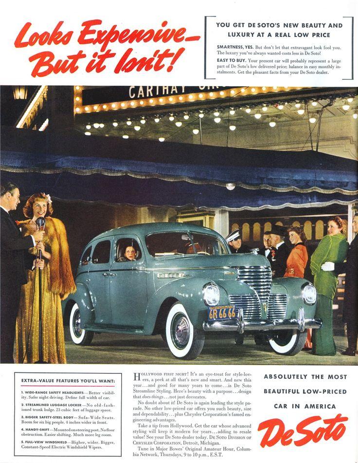 198 best Vintage Car Advertising images on Pinterest   Car ...