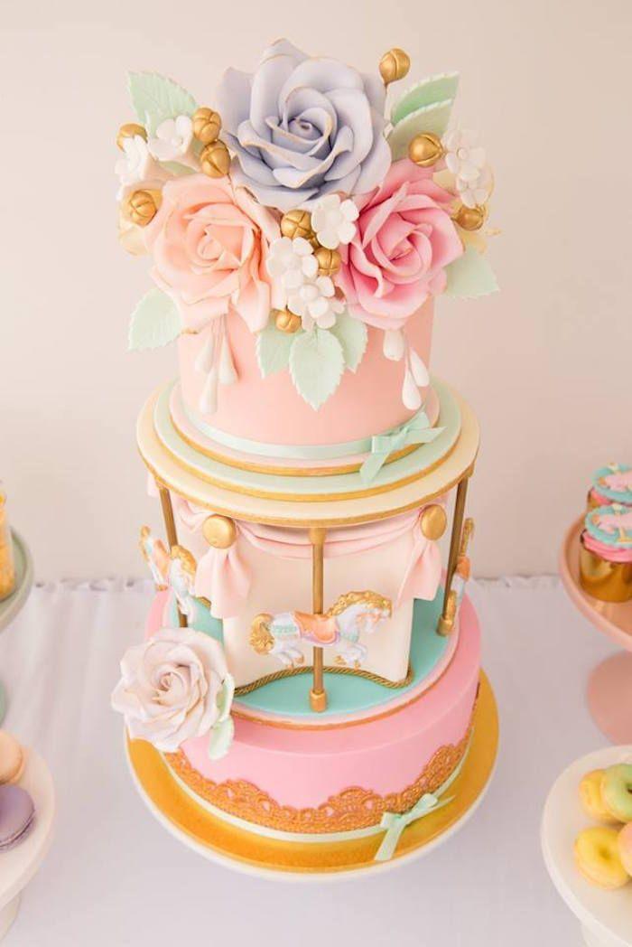 Pastel Carousel Birthday Party via Kara's Party Ideas | KarasPartyIdeas.com (14)