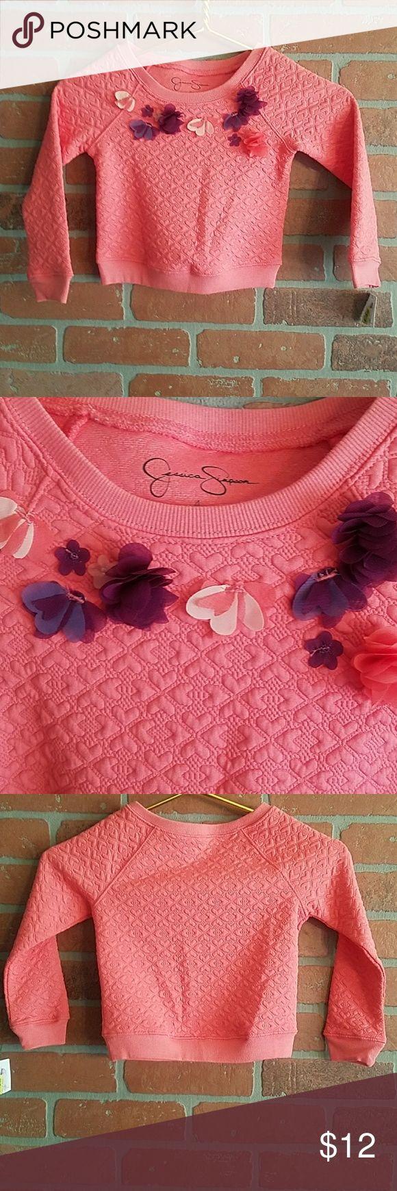 🆕Jessica Simpson Girls Quilted Sweatshirt - 4 New with tags. Jessica Simpson Shirts & Tops Sweatshirts & Hoodies
