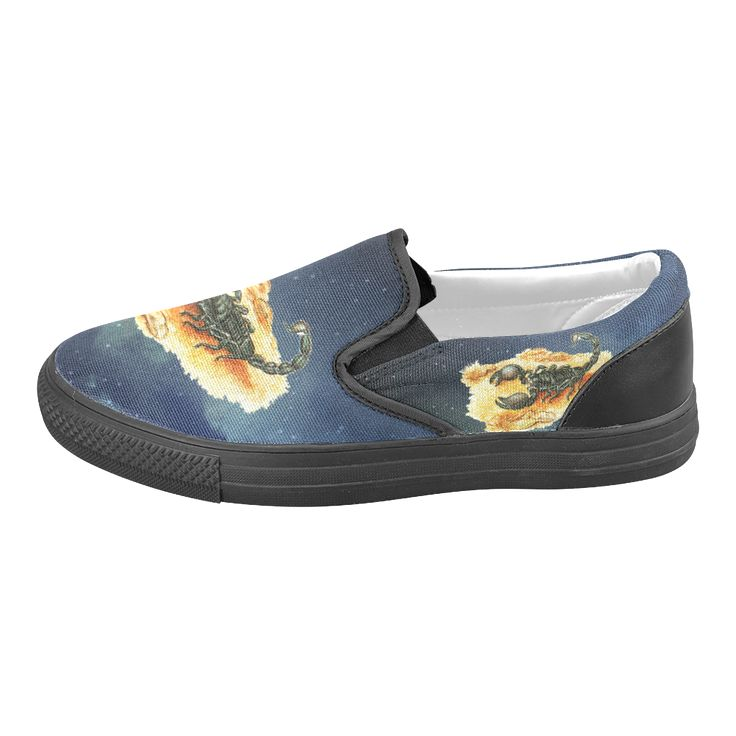 Scorpion Men's Slip-on Canvas Shoes.  FREE Shipping. #artsadd #menshoes #scorpio