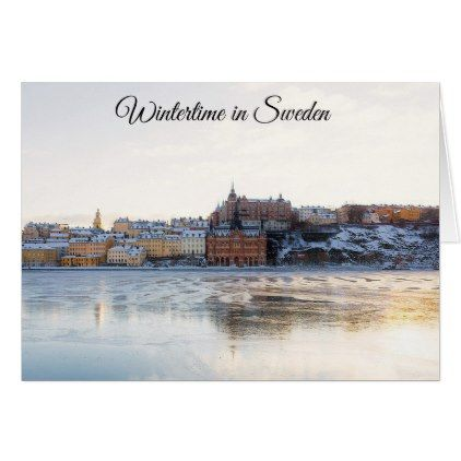 Stockholm Sweden Holiday Christmas  Card - christmas cards merry xmas family party holidays cyo diy greeting card