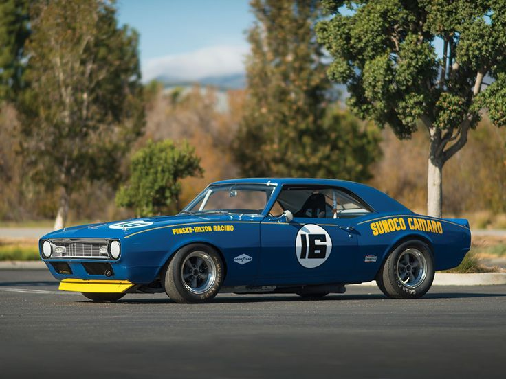 "1968 Chevrolet Sunoco Camaro Trans Am, Est. 420 bhp, 302 cu. in. OHV Traco-Chevrolet V-8 engine with dual four-barrel Cross-Ram intake manifold, four-speed M-22 ""Rockcrusher"" manual transmission 