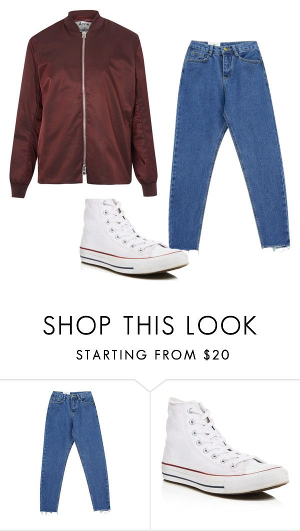 """ma gracia"" by jose-ignacio-hernandez on Polyvore featuring moda, Chicnova Fashion, Converse y Acne Studios"