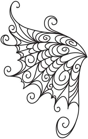 DIBUJO DE TELA DE ARAÑA - Embroidery Designs at Urban Threads - Delicate Wings