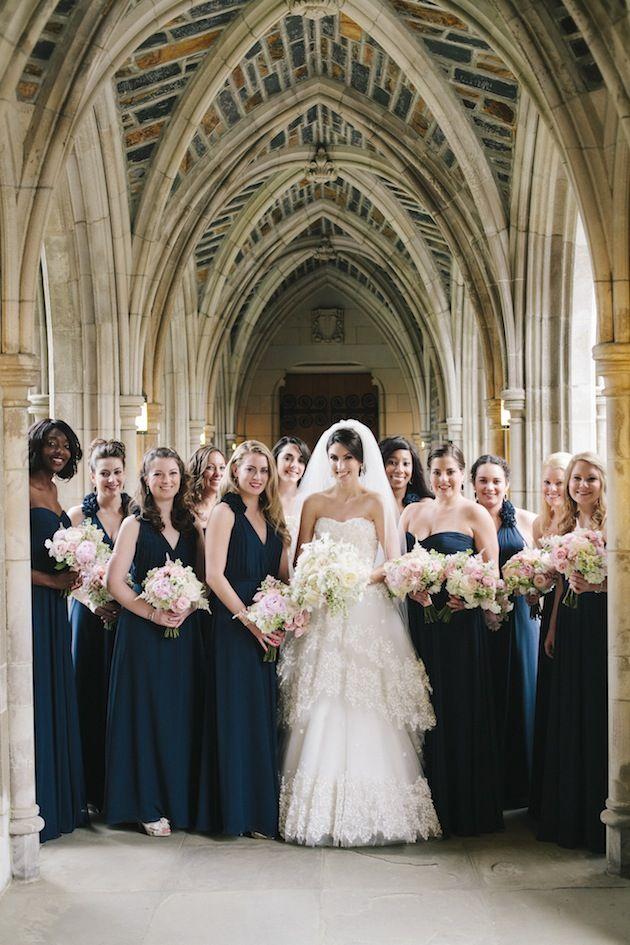 Navy Blue Gold And Ivory Wedding At Duke University
