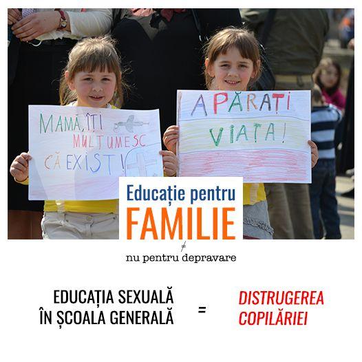 Educația sexuală în școala generală înseamnă distrugerea copilăriei