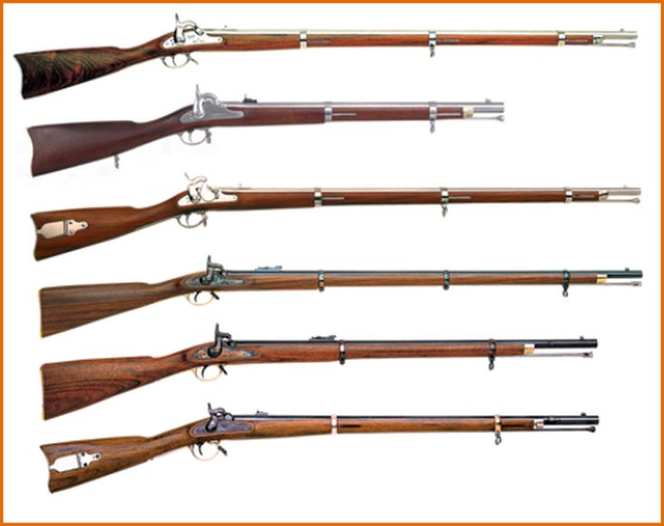 This Is A Collection Of Civil War Rifles 1863 Springfield