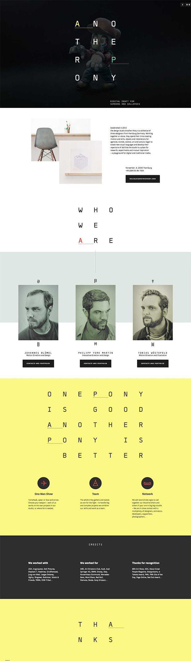 Another Pony Website Design | Interactive / UI | Pinterest