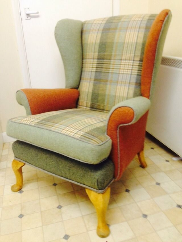 Vintage Parker Knoll Wingback Armchair - Patchwork - Newly Reupholstered