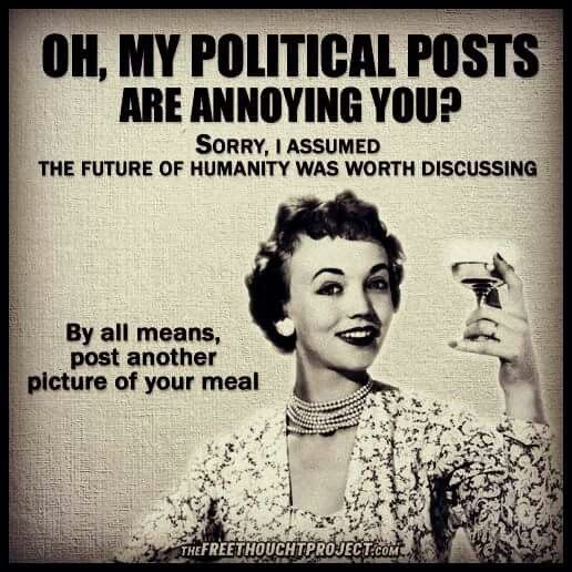 LOL--CHEERS TO THOSE WHO HAVE THEIR HEADS IN THE SAND, THAT'LL MAKE IT GO AWAY, NOT!! WAKE UP AND BE PART OF THE SOLUTION NOT PART OF THE PROBLEM----