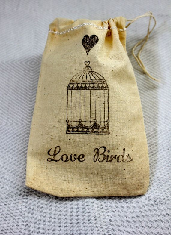 20 BIRD CAGE 2 4 X 6 100 Cotton Pouches Ready to by pickledparlor