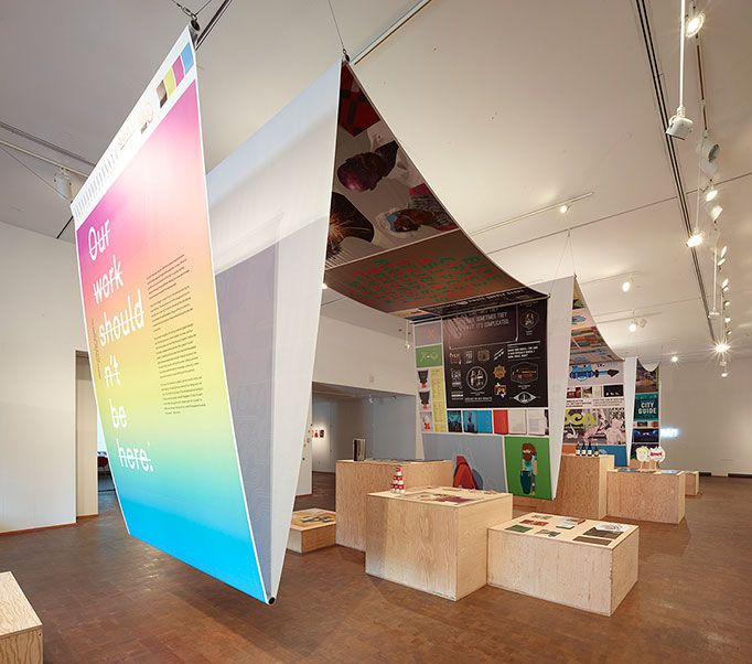 Masters of Design exhibition #graphics #signage #eventprofs