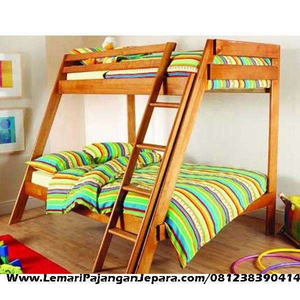 Jual Tempat Tidur Tingkat Jati Minimalis Sorong merupakan Produk Mebel asli Jepara dengan Desain Sederhana Minimalis Jati Model Lain Dipan Minimalis Jati