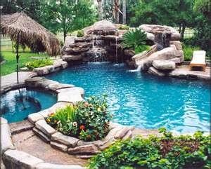 Pool and Waterfall backyard-dreams