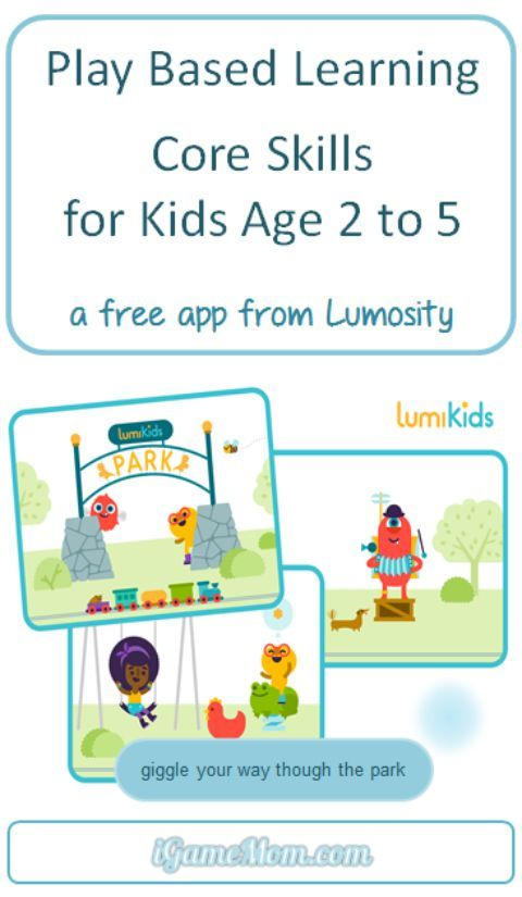 Free app for toddler and preschoolers from Lumosity -- play-based learning for kids core skills, such as cognitive, motor and social emotional skills