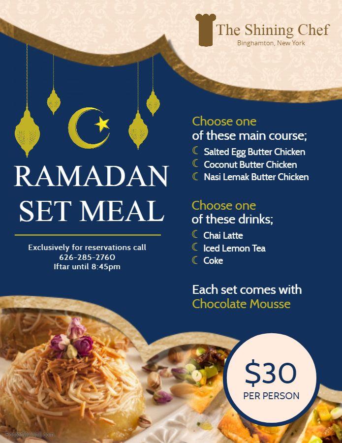Blue Iftar Deals Menu Design Template Menu Design Template Food