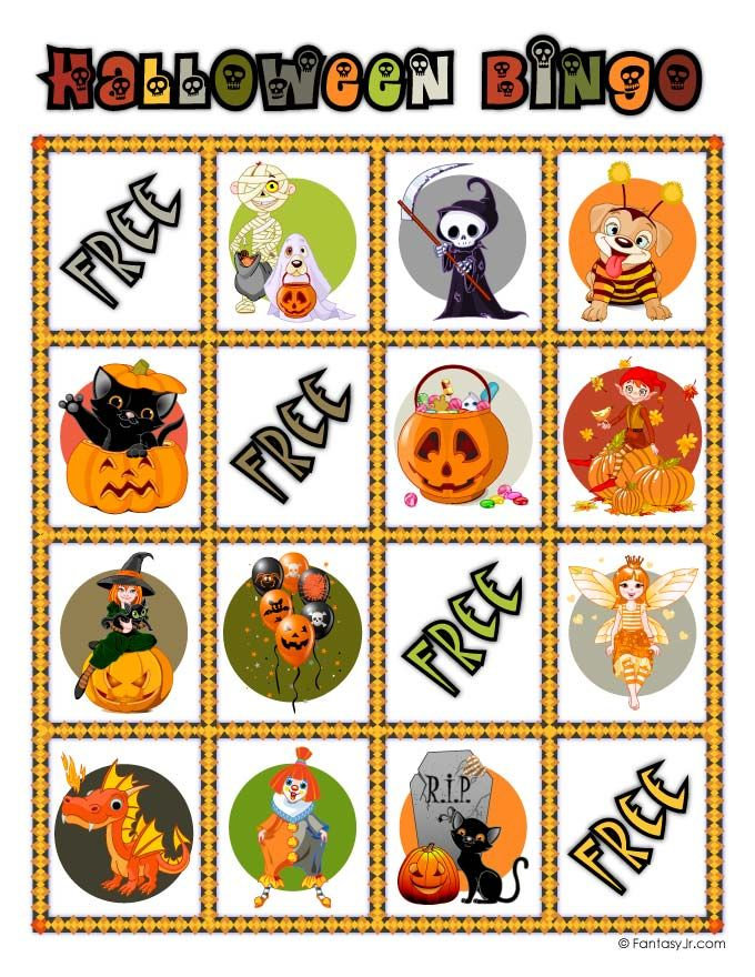 It's just a photo of Candid 25 Printable Halloween Bingo Cards