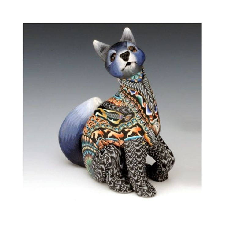 Wolf Sculpture | Mama | Clay | FimoCreations