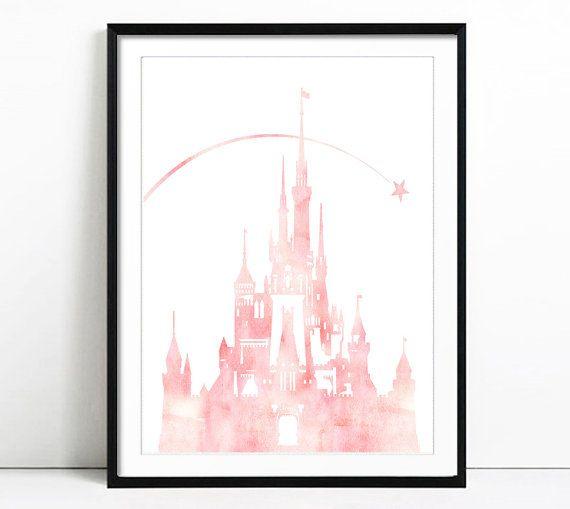 Disney Castle Watercolor Disney Princess Princess by LACOTEDESIGN