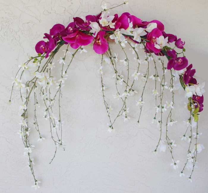 12 best flower arrangements images on pinterest floral cascading orchids wedding arch or centerpiece decoration natural touch and silk flowers mightylinksfo Choice Image