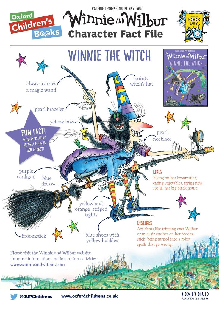 All the information you need to dress up as Winnie the Witch for World Book Day!