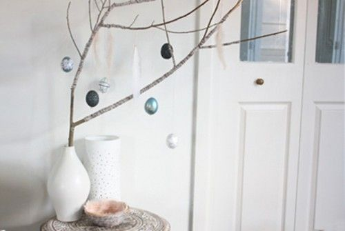 Small Christmas trees are very popular as centerpieces and why not make an Easter tree to hang not beautiful balls but painted eggs?