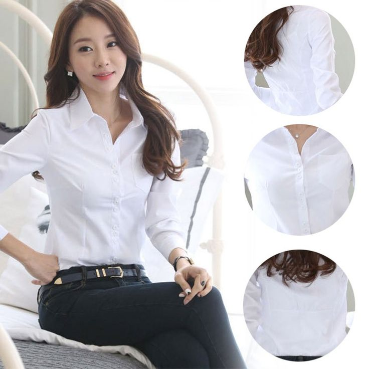 >> Click to Buy << Summer Blusas Women Office Blouse Lady Formal Party Long Sleeve Slim Collar Blouse Casual Solid White Shirts Tops #Affiliate