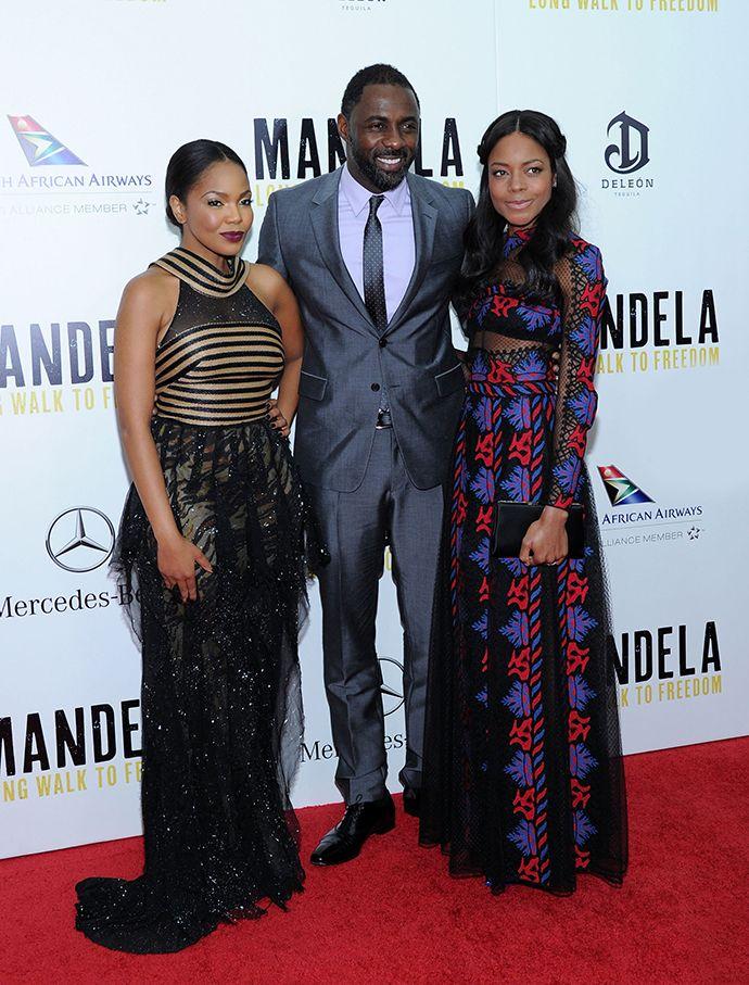 """Премьера фильма """"Мандела: Долгий путь к свободе"""" в Нью-Йорке Тэрри Фето, Идрис Эльба и Наоми Харрис"""