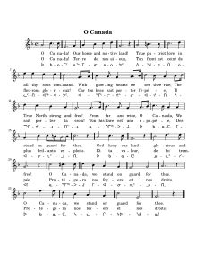O Canada  Sheet music for Canada's national anthem