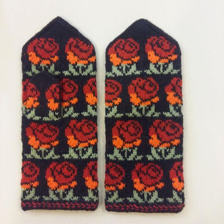 Traditional Latvian mittens Tines wool woman S M ethnographic folk | eBay