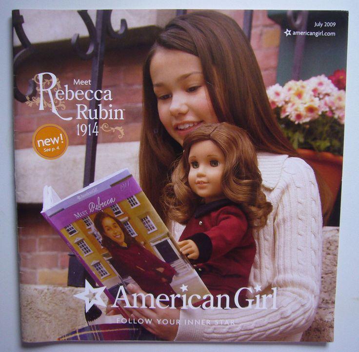 July 2009 American Girl Catalog Rebecca Rubin Chrissa Just Like You A7 Dolls #AmericanGirl