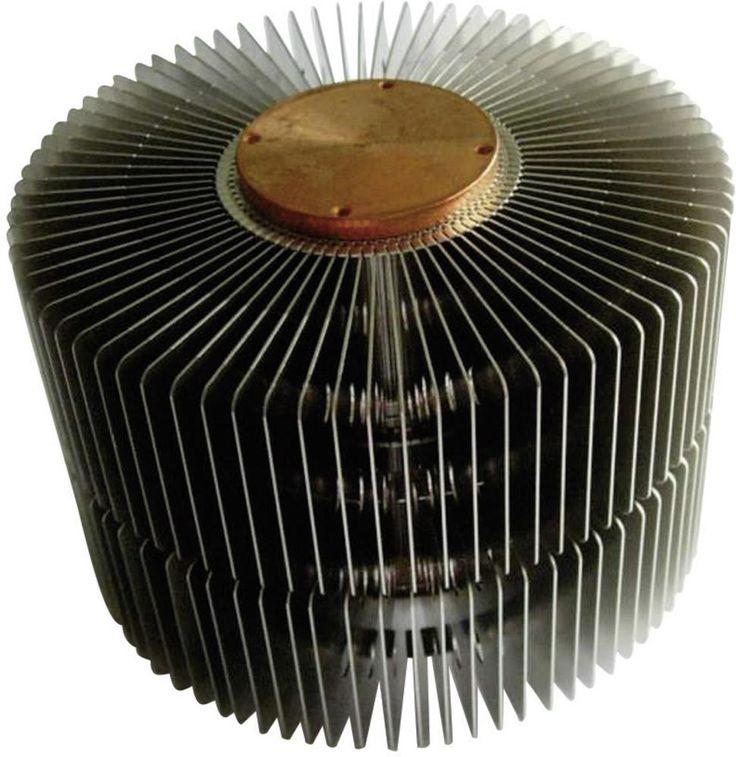 Heatpipe koellichaam QuickCool QL-14355-33S (Ø x h) 143 mm x 50 mm