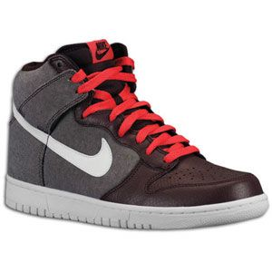 Nike Dunk High - Men's - Red Mahogany/Red Mahogany/White