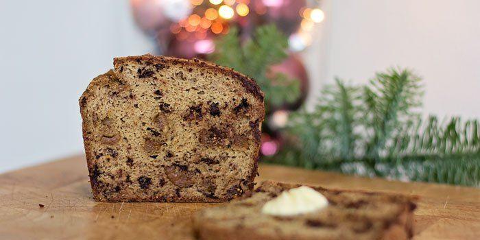 Paleo Kerstbrood met zoete aardappel (glutenvrij, geraffineerd suikervrij, zuivelvrij)