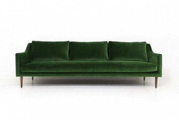 ModShop Naples Sofa in Emerald Green Velvet