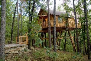 Towering pines treehouse wanna spend the night in a for Tree house cabins arkansas