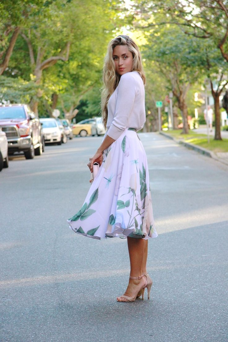 Ted Baker Sweater, Skirt, Clutch & Heels