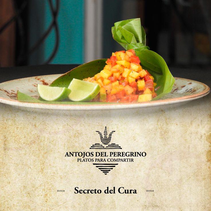 El cura ha recibido un gran secreto, y lo único que dijo es que sabe a mango. Prueba el Secreto del Cura, ceviche de mango con ketchup casero. #ElSantísimo