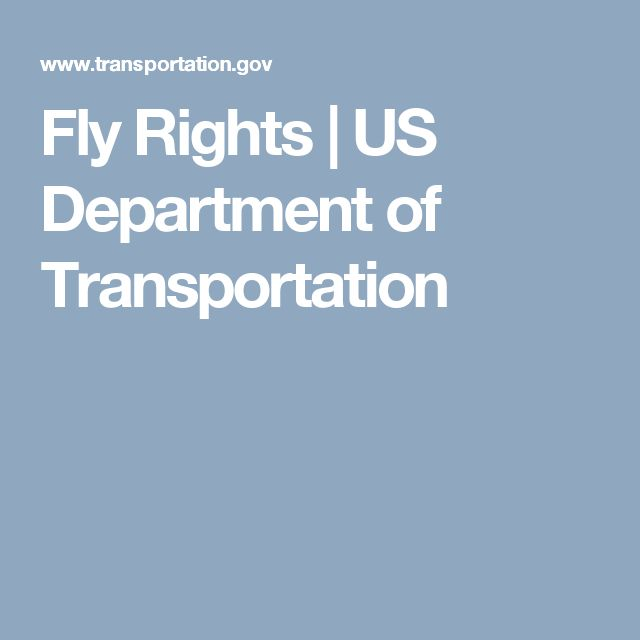 Fly Rights | US Department of Transportation