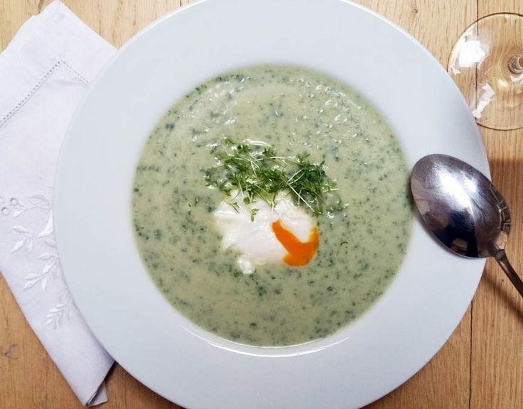 Krémová špenátová polévka